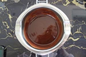 Schokolade und Butter nach dem Schmelzen